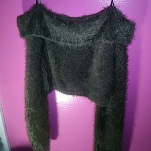 Forever 21 fuzzy crop top